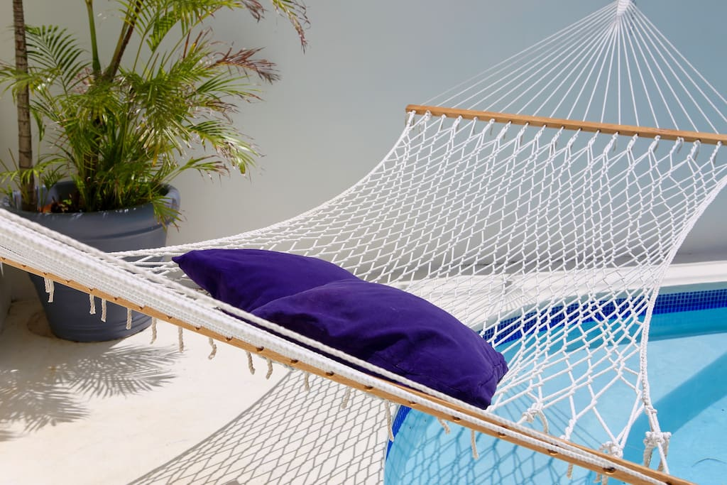 Hammocks around the house for your relax