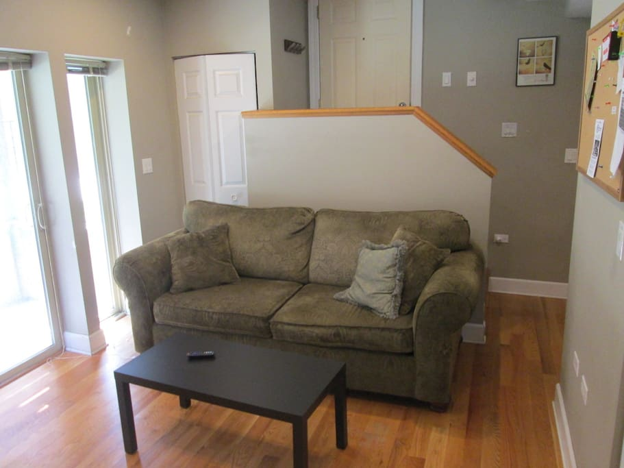 Comfy couch for an additional sleeping/hangout spot. There is also a cot for sleeping.