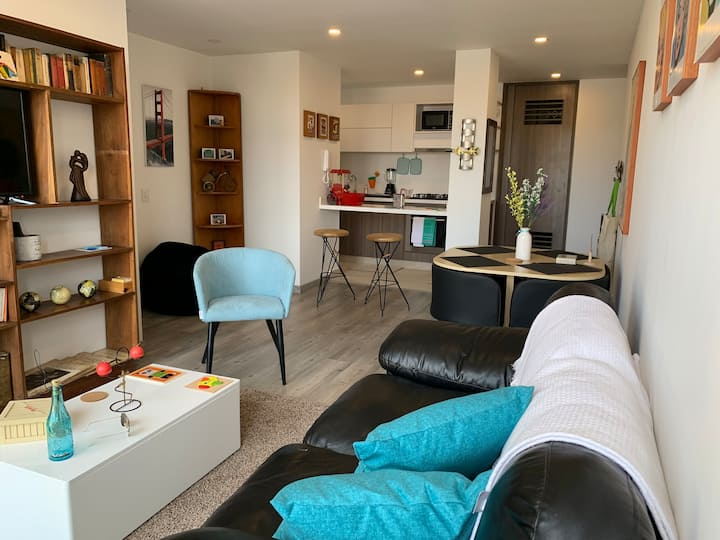 Bello, nuevo apartamento en el norte de Bogotá