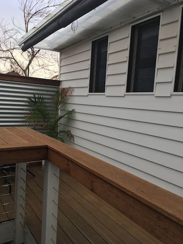 Balcony and outdoor seating area