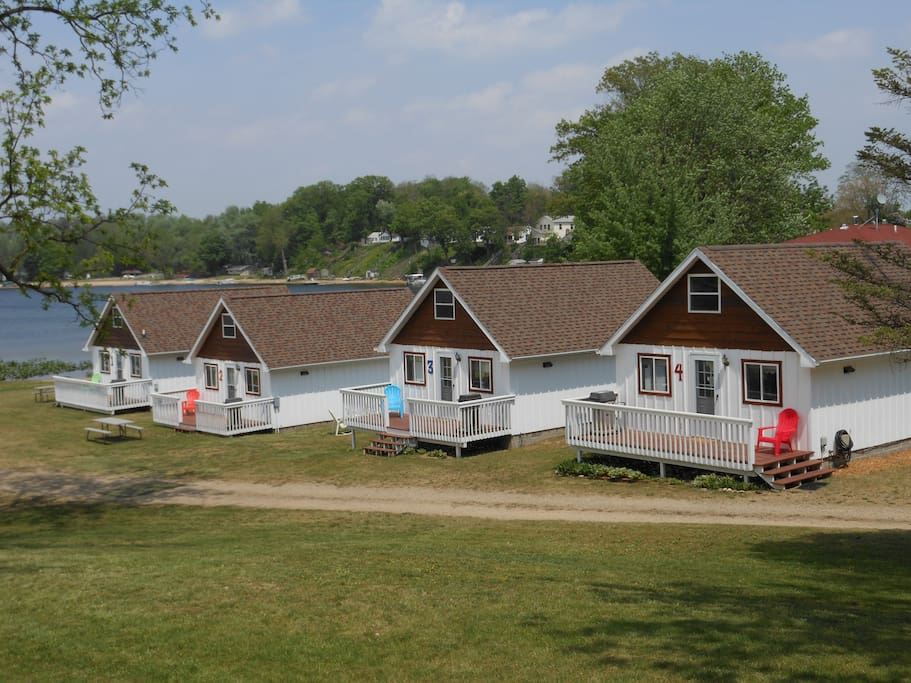 4 cottages on little fish lake cabins for rent in