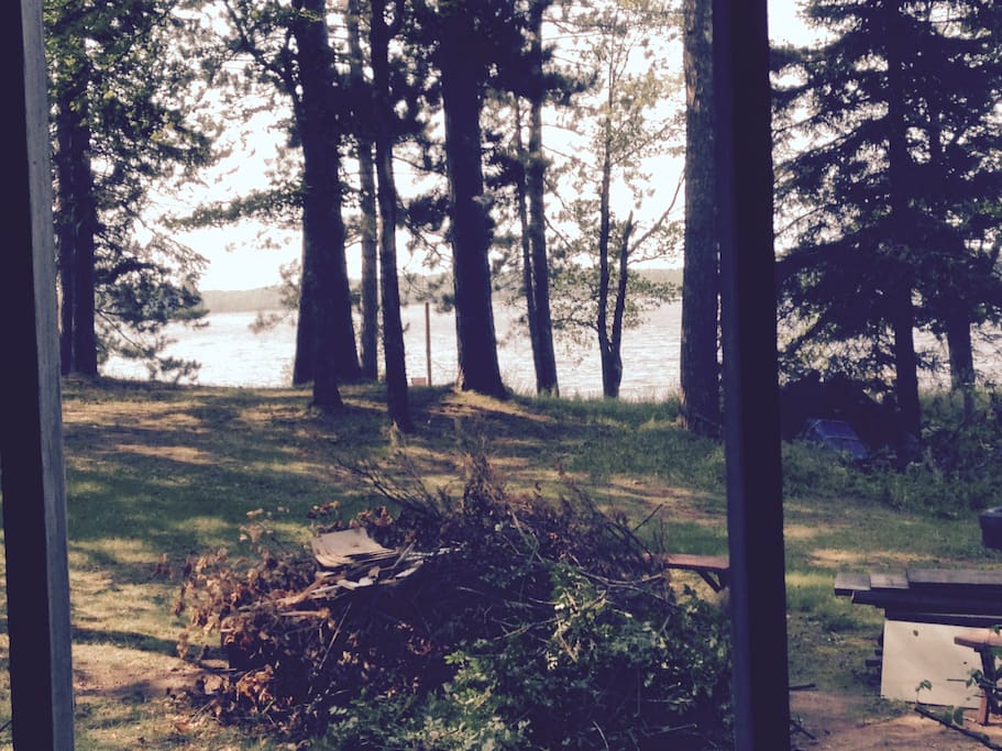 Lake from screen porch.