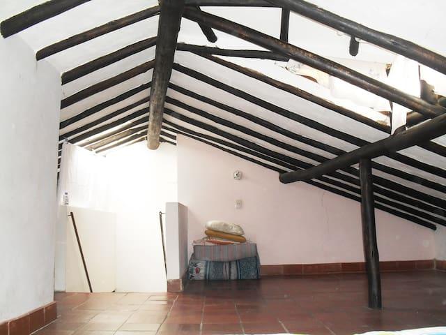 attic room/wifi/family/close to bus station - villa de leyva - Apartment