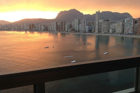 Best luxury apartment in Benidorm Gemelos 28 luxury development, nice swimming pool, sea view like from ship