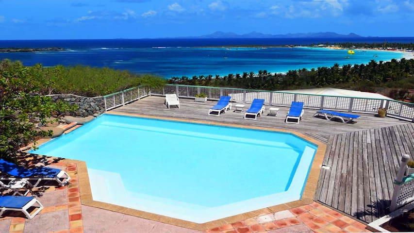 AlizéÔ, vue à 180° sur mer et plage - Saint-Martin - Apartament