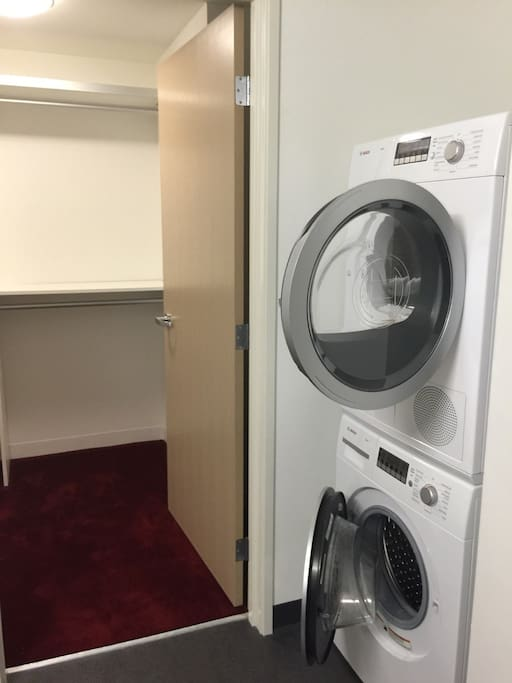 Comes with Washer Dryer. Laundry detergent is provided