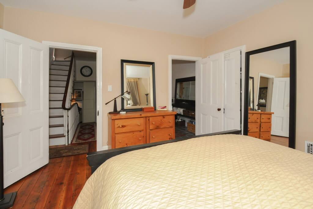2nd floor bedroom, showing private bathroom access