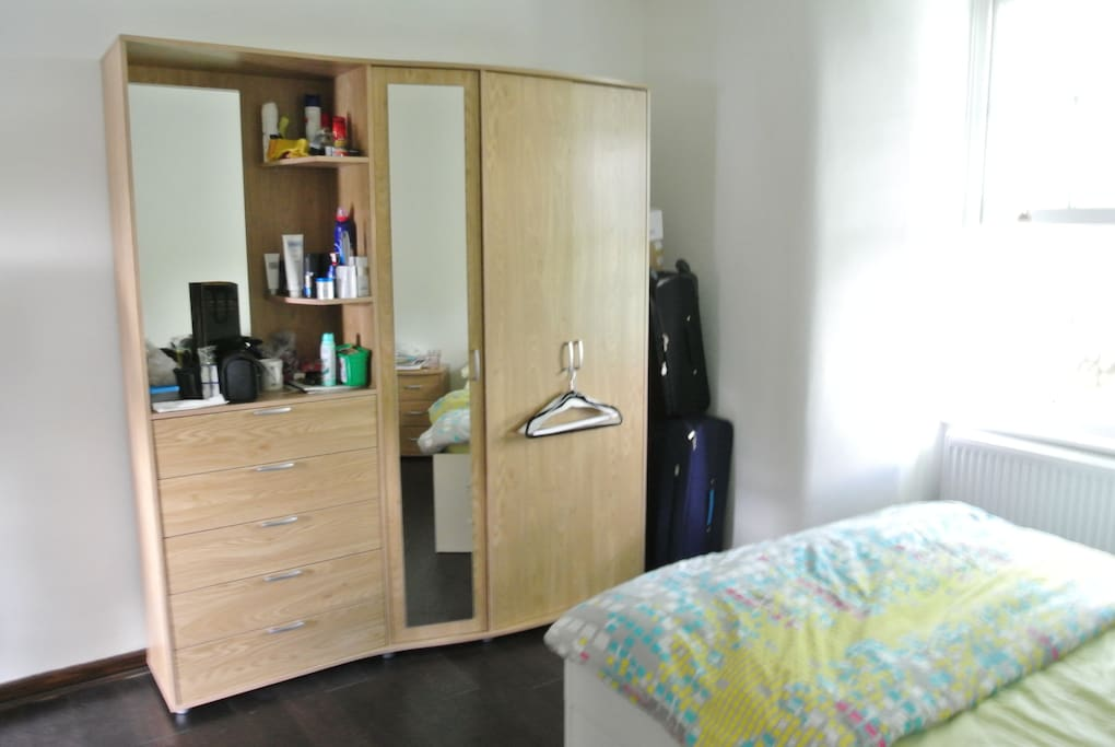 Your big wardrobe/dressing table with full length mirror