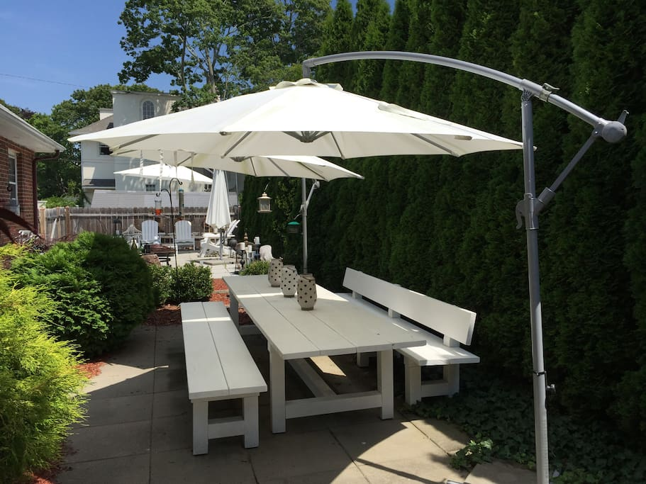 Backyard dining oversize custom Table