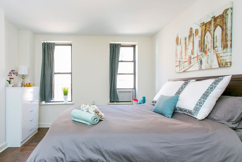 Enjoy all the comforts of home, from fresh linens in the bedroom to basic kitchen amenities