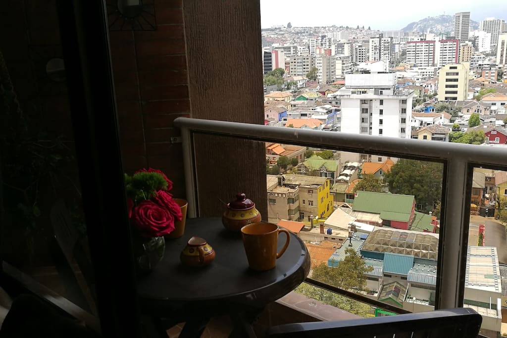 Terrace with a wonderful view of Quito