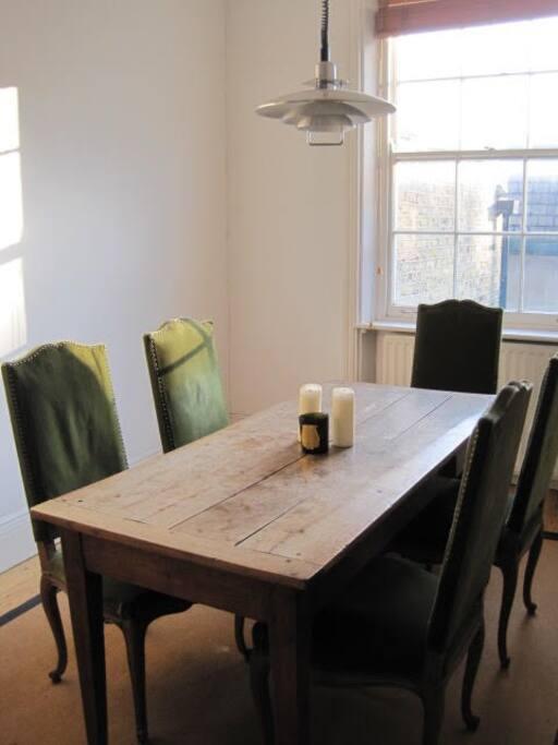 Sunny dining room.
