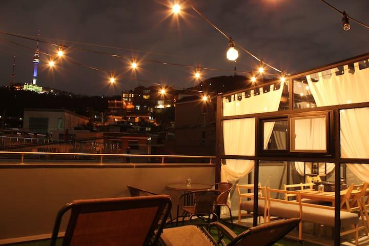 ❤️WEZIP-M Namsan View, Rooftop, ITAEWON