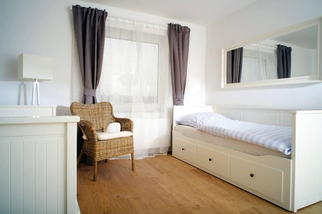Wohnung Typ A Wohn- und Schlafbereich