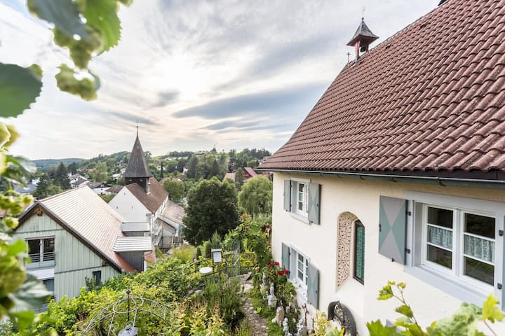 "Charming Vacation Home ""Ferienhaus St. Michael"" near Lake Constance with Wi-Fi, Terrace & Garden; Parking Available"