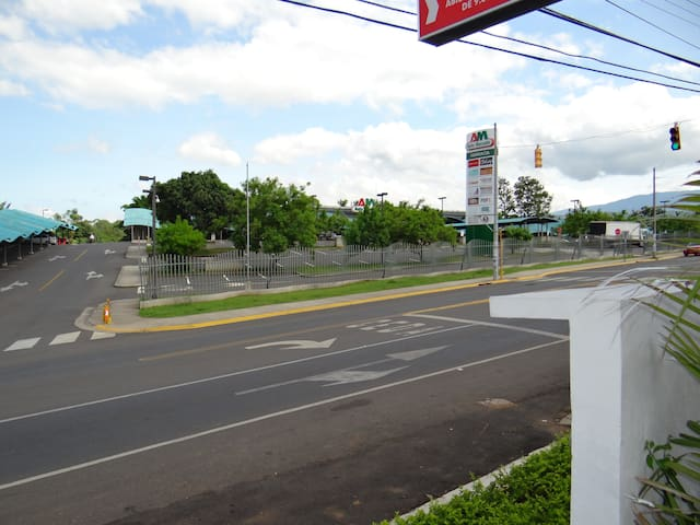 Automercado Alajuela, 300 meters from the Apartment, great supermarket with a Bank right next!