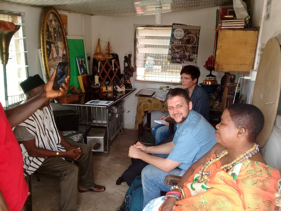 Two guests I led on a community field work in Accra and its environs.