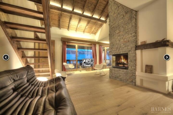 MEGEVE Luxueux duplex 8pers./4ch. - ski aux pieds! - Megève - Flat