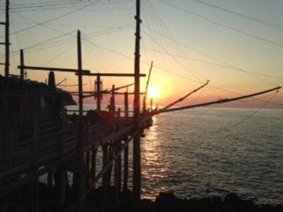 Ristorante il trabucco. Una sosta e un tramonto imperdibili a due passi da casa.
