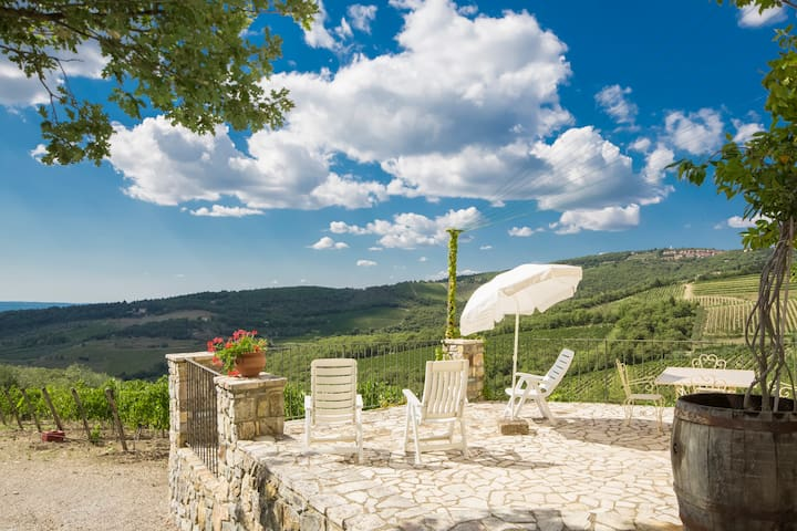 Cottage wonderview on Chianti hills