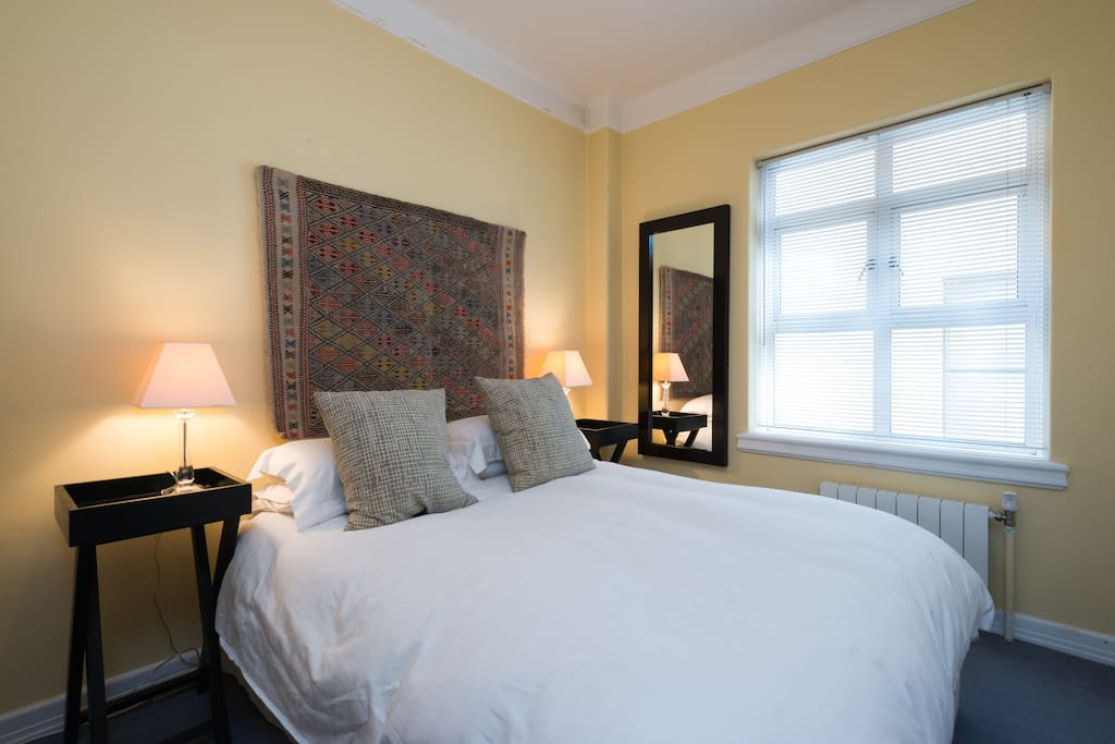 A wonderful quiet bedroom with quality furnishings