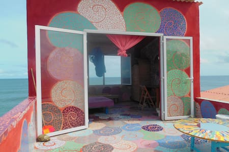private terrace-room in the house of artist