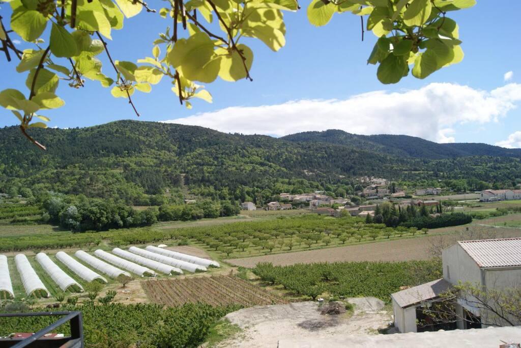 Vue sur le village de Beaumont du Ventoux