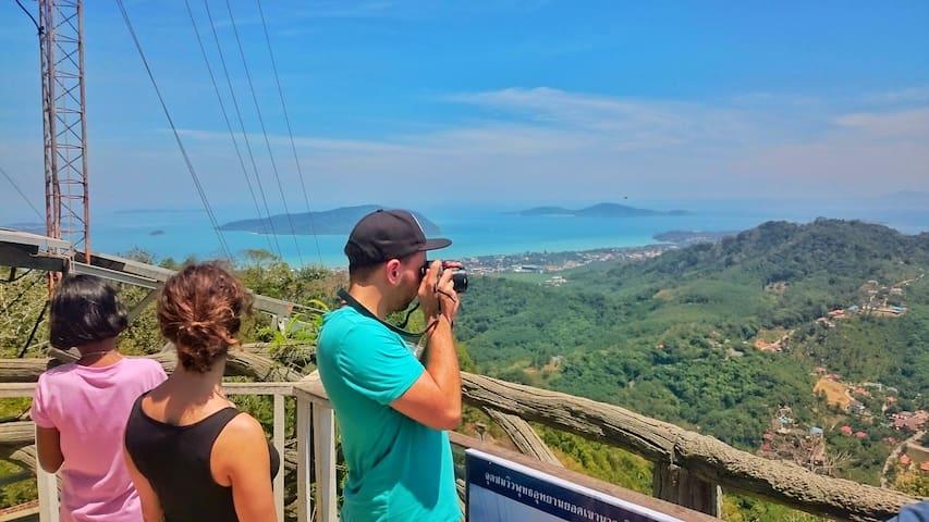 at Big Buddha viewpoint - Daytrip around Phuket