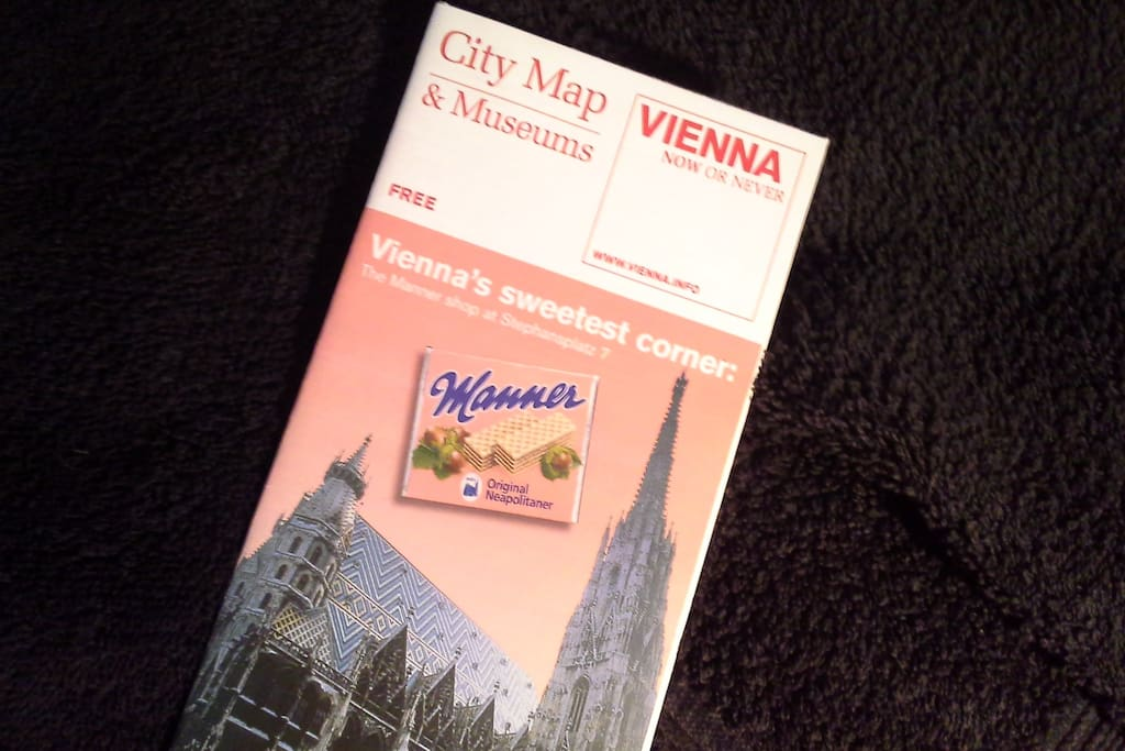Map of Vienna also offered.