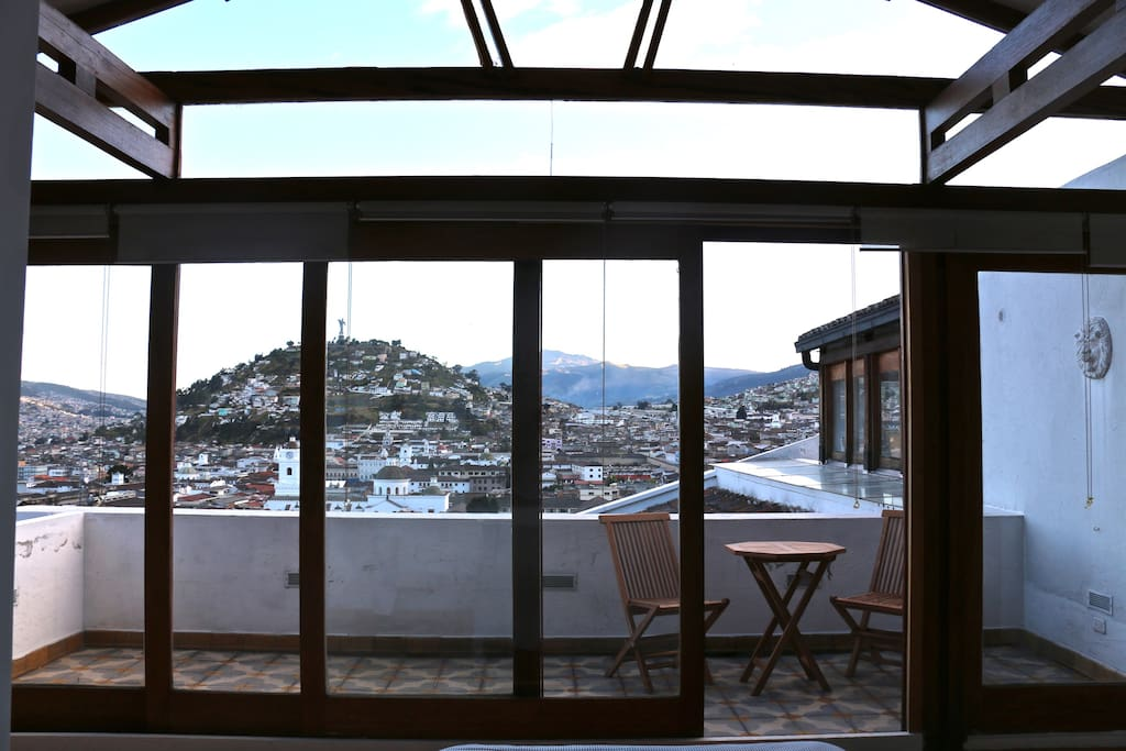 view of terrace from bedroom