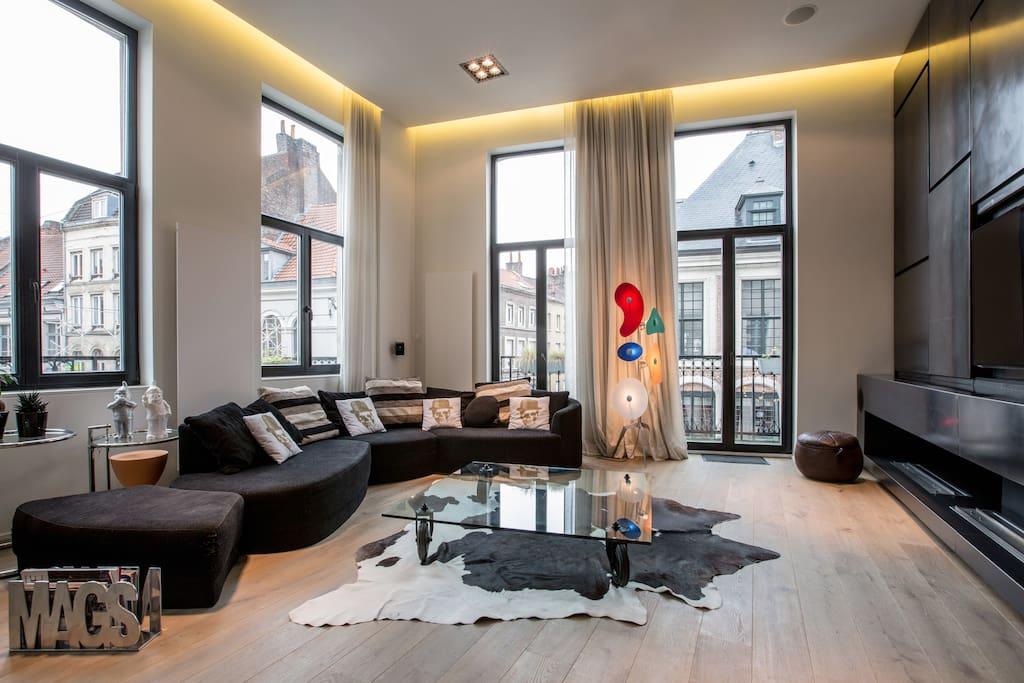 Loft 135 m2 vieux lille appartements louer lille for Appartement atypique 66