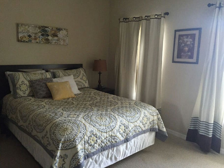 Upstairs, walk  in  closet, new pillows, bedsheets  and towels
