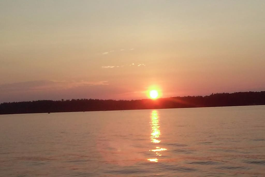 Beautiful sunset view from the dock