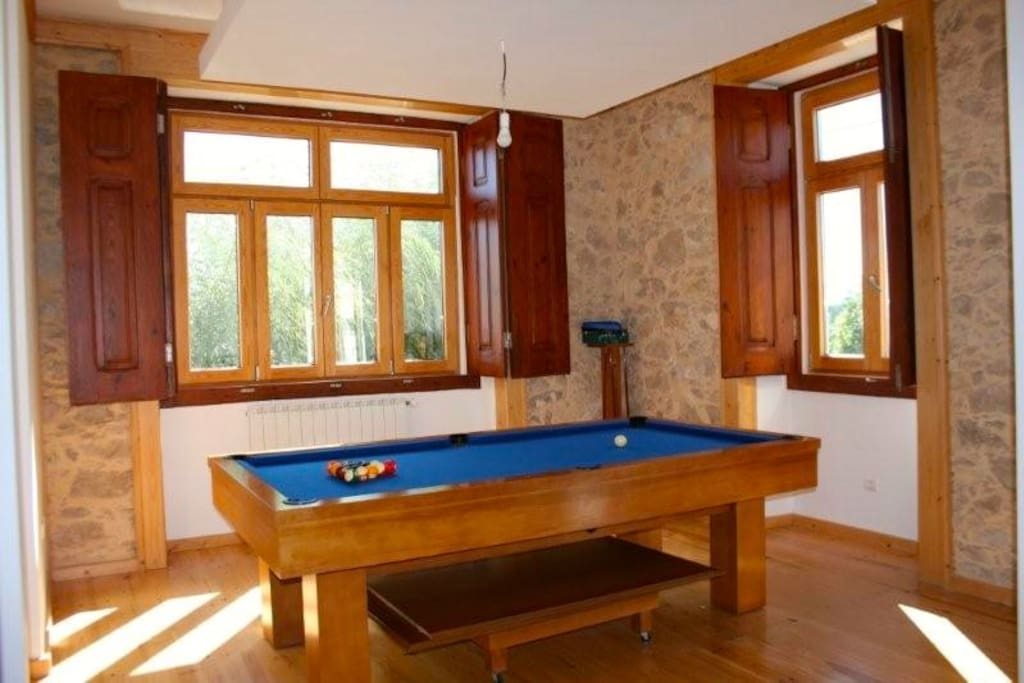 Snooker table in living room