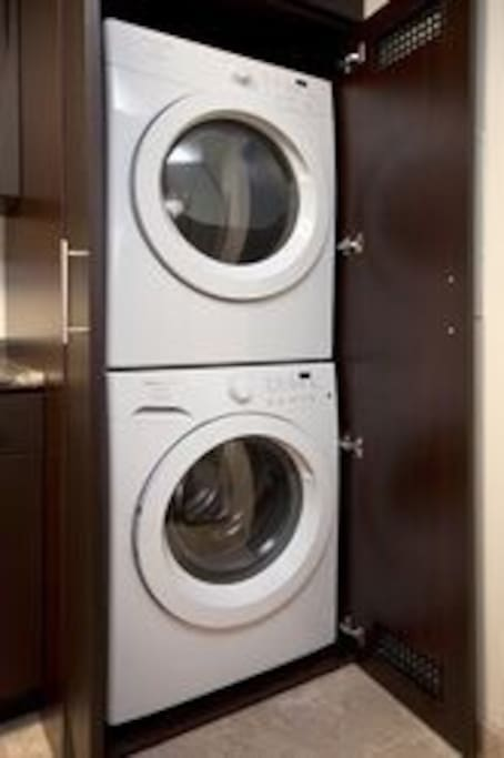 Access to washer and dryer in apartment.