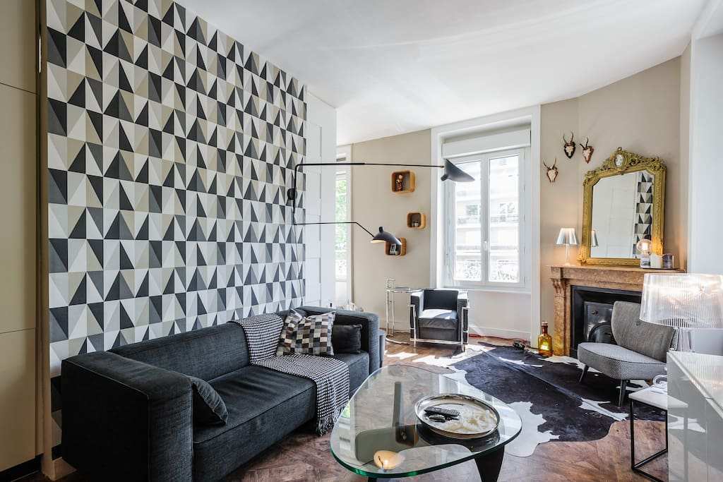 Charm design in the hart of lyon apartments for rent for 55m2 apartment design