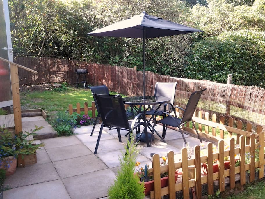 Outside private, secluded space for alfresco dining.