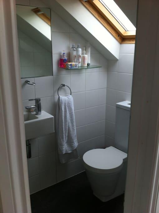 en suite, includes a shower