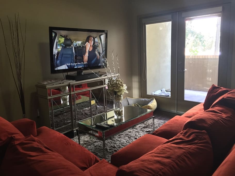 Living Room Area. Large VERY COMFORTABLE sectional.