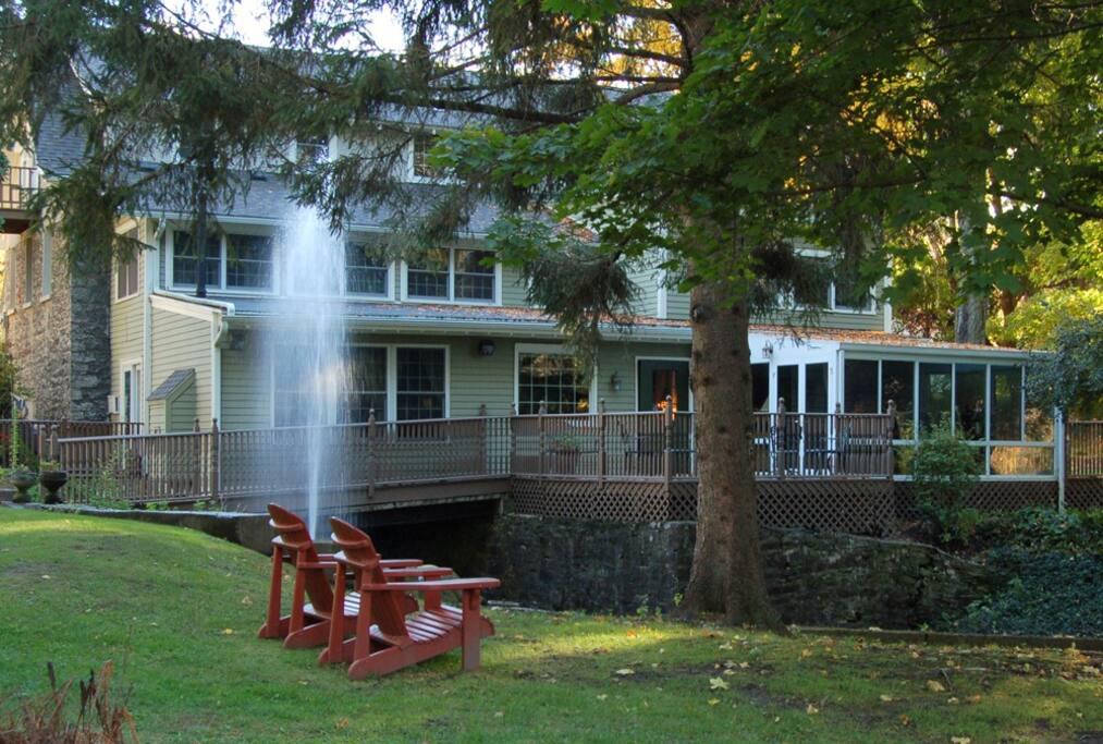 Backyard of the Inn