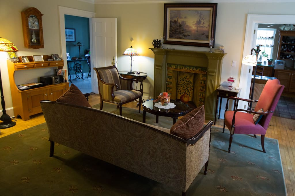 Parlor in the Inn for guests to enjoy1