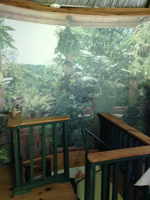 The third floor with a nice deck overlooking trails & gardens.
