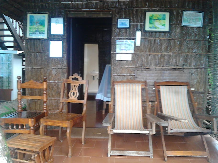Front view of Bamboo cottage