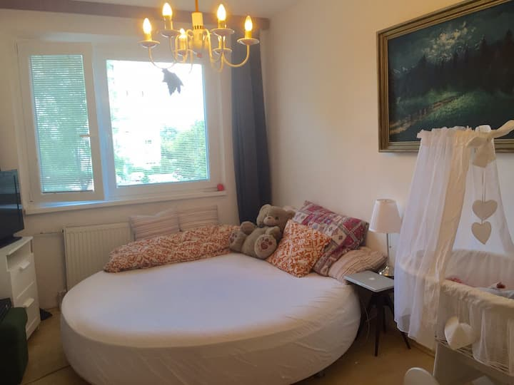 Lovely room, big round bed