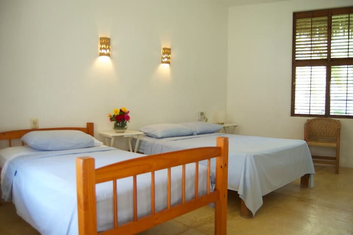 All bedrooms have mosquito nets on doors and windows