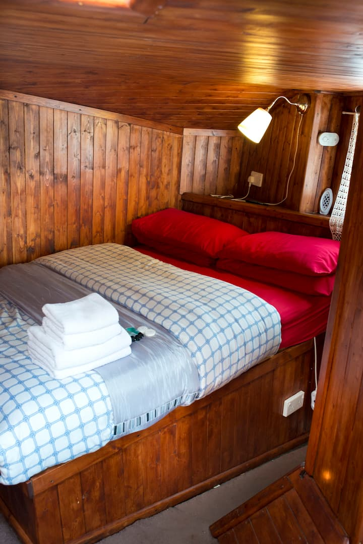 Room in traditional fishing trawler