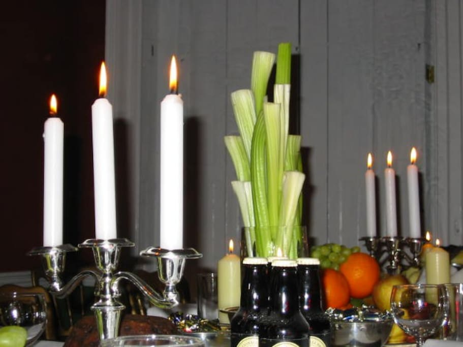 Celery by candle light.