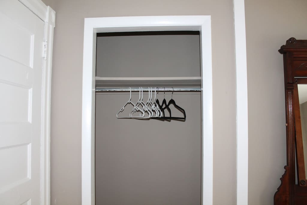 Dedicated closet for guests to use