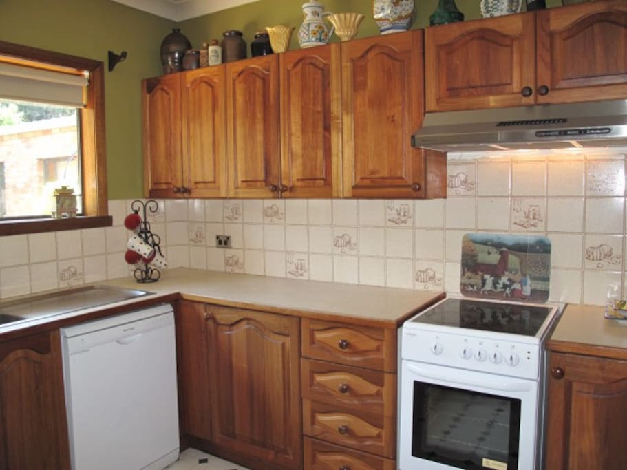 Fully equipped kitchen is available for your use.