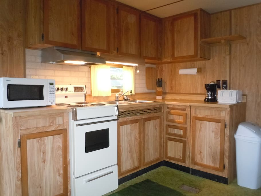 clean kitchen and appliances
